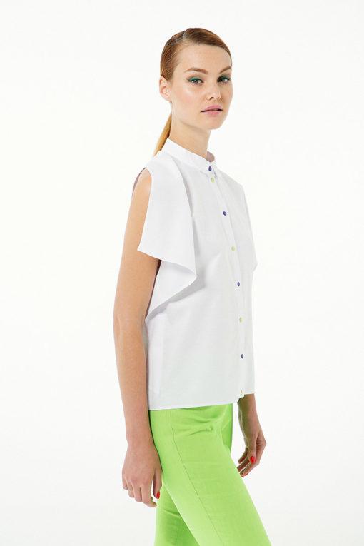 Белая открытая блуза вид2