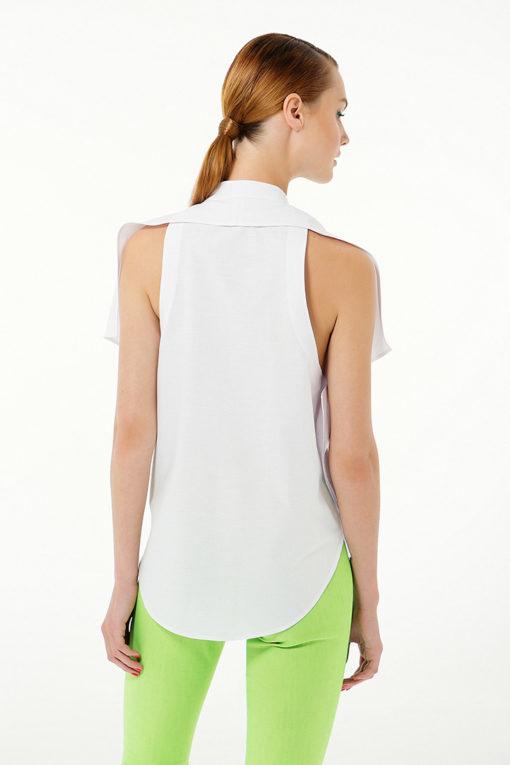 Белая открытая блуза вид3