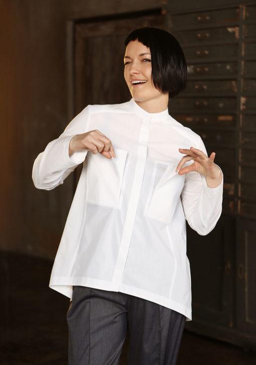 Белая рубашка с карманами