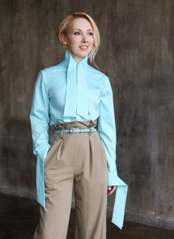 Голубовато-бирюзовая рубашка