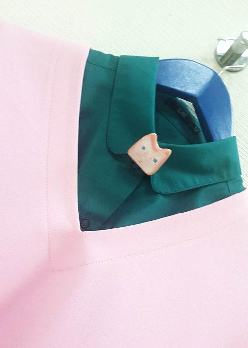Нежно-розовый джемпер вид2