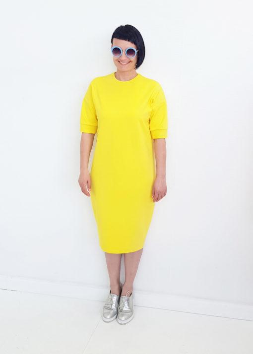 Нежно-желтое платье