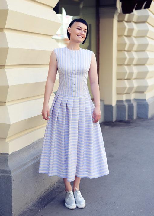 Платье из фактурного хлопка