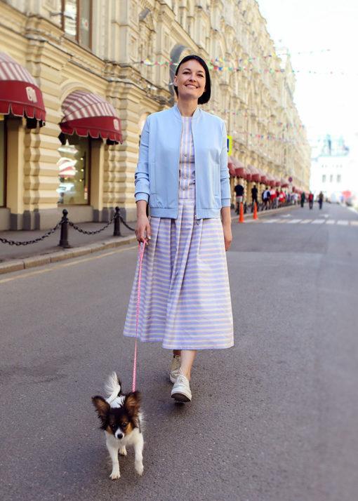 Платье из фактурного хлопка вид3