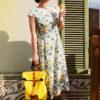 Платье с желтым принтом
