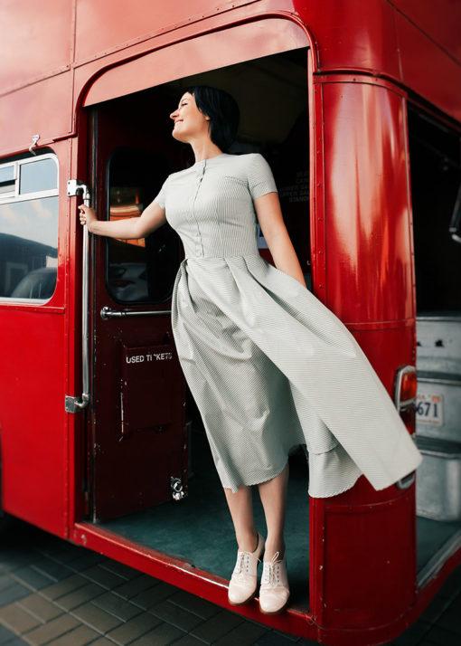 Пышное платье в стиле ретро вид2