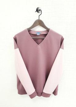 Розовато-коричневый джемпер