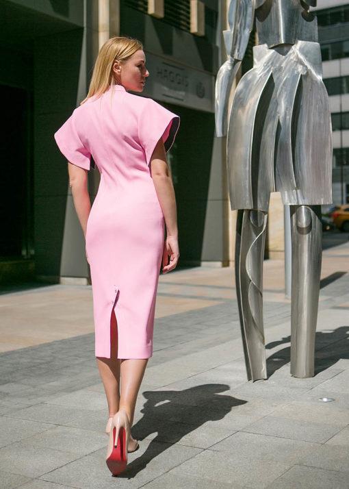 Розовое платье вид2