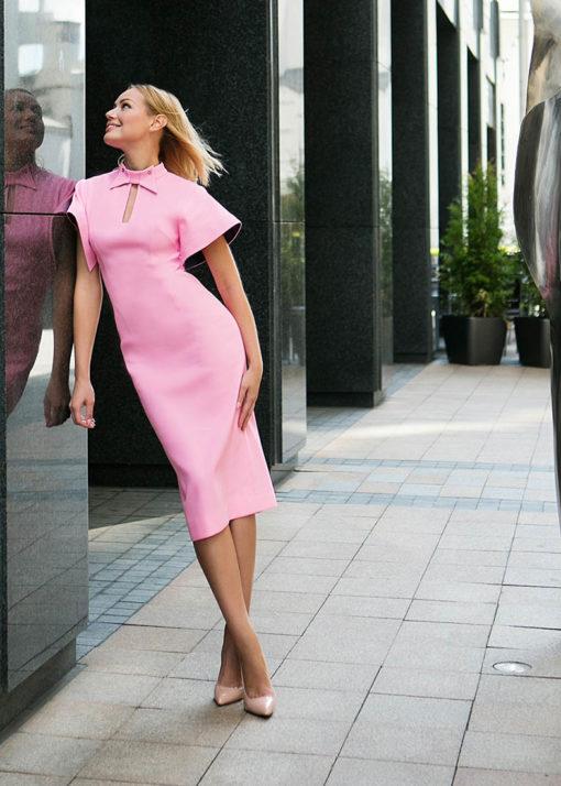 Розовое платье вид3