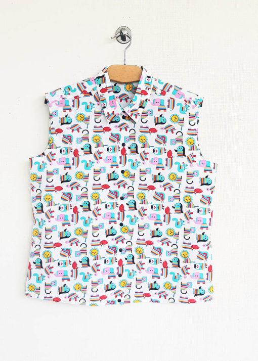 Рубашка с принтом вид2