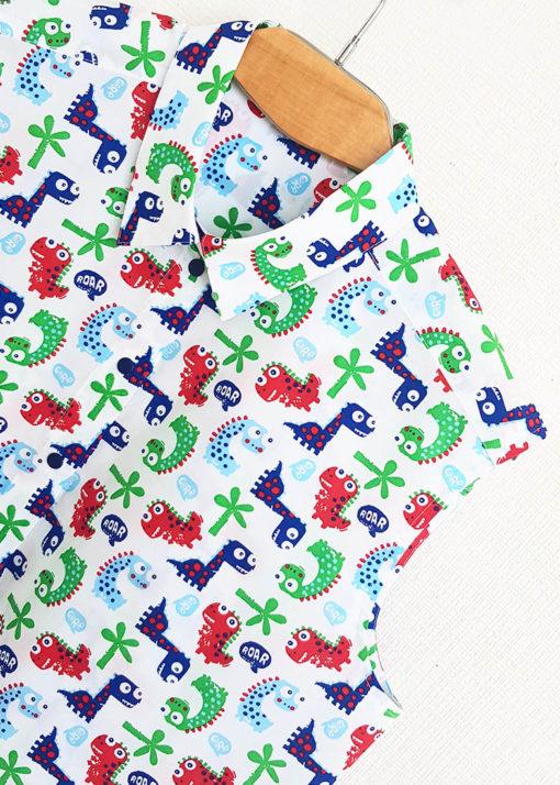 Рубашка с трехцветным принтом вид3