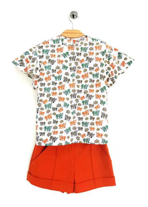 Блузка с рукавами-крылышками вид3
