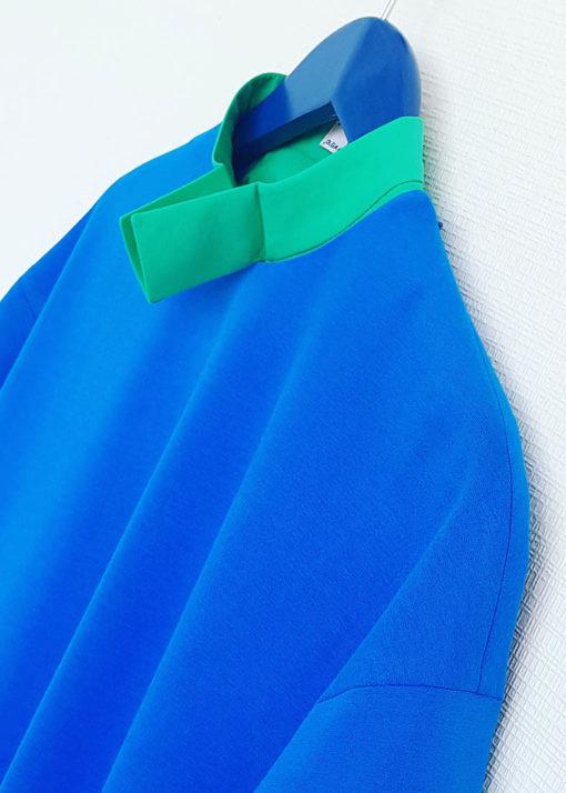 Синее свободное платье вид3