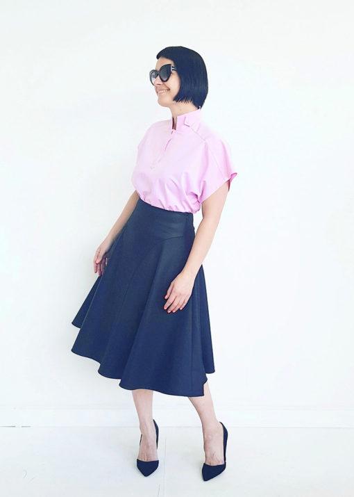 Светло-розовое платье вид3