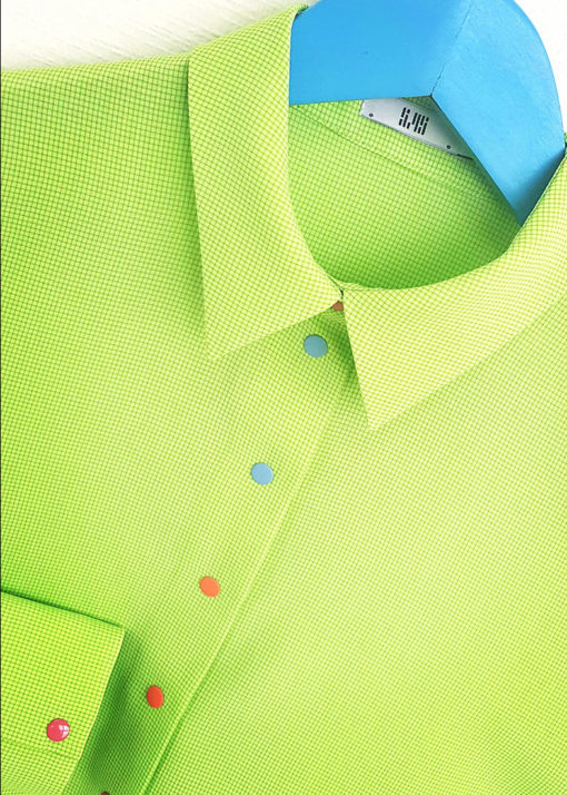 Светло-зеленая рубашка свободного кроя вид3