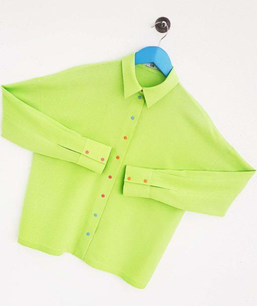 Light-green loose shirt view3