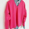 Ярко-розовый джемпер