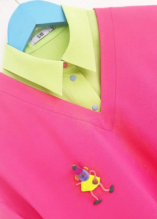 Ярко-розовый джемпер вид3