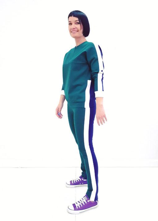 Зелено-синий джемпер