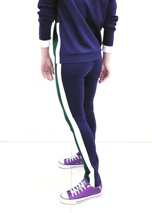 Зелено-синий джемпер вид2