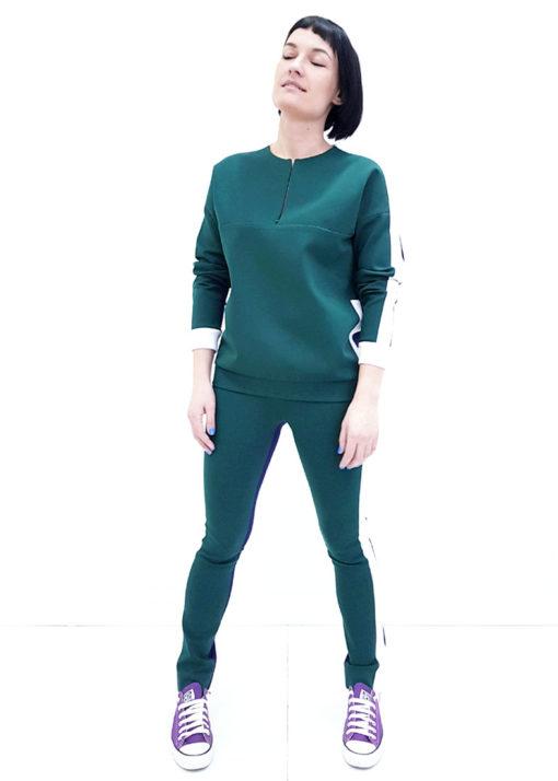 Зелено-синий джемпер вид3