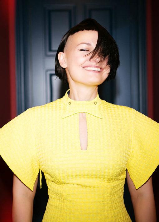 Желтое платье вид2