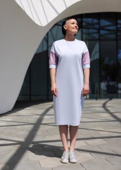 Жемчужно-серое платье
