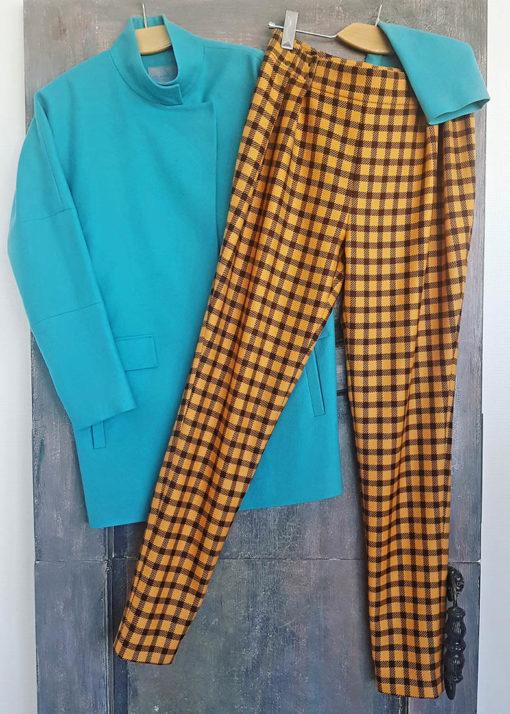 Клетчатые брюки вид2