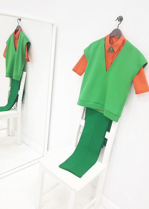 Зеленые брюки вид3