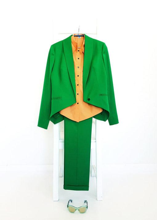 Зеленые брюки вид4