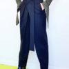 Чёрные графичные брюки