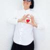 Белая рубашка сердце