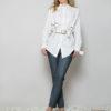 Белая рубашка необычного кроя вид12