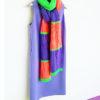Разноцветный полосатый шарф